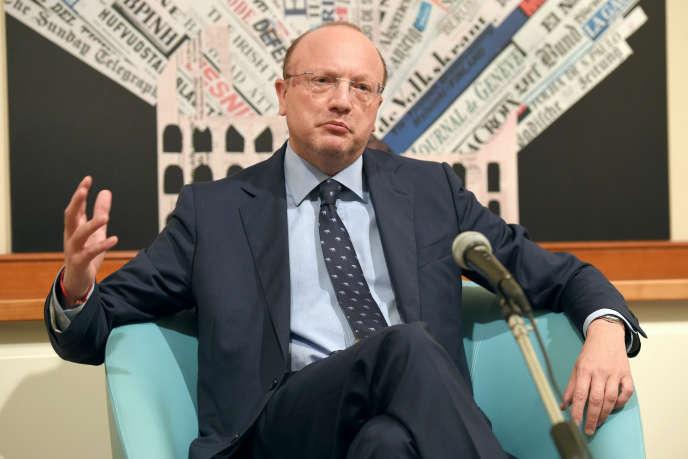 Vincenzo Boccia, president of Confindustria (Italian Medef), in Rome, in September 2016.