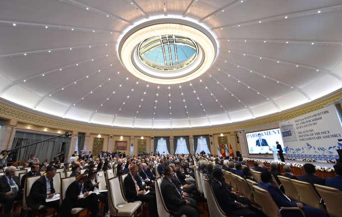 At an OSCE meeting in Bishkek in October 2018.