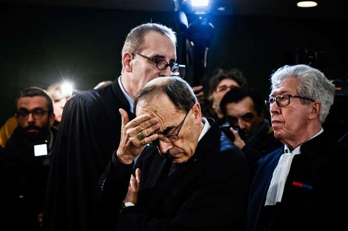 Le cardinal Philippe Barbarin, le 7 janvier 2019, lors de son procès à Lyon.