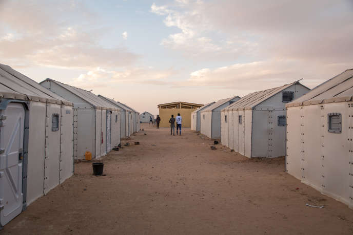 A Sudanese refugee camp, located 13 kilometers from Agadez by the United Nations High Commissioner for Refugees, where more than 1,500 people live.