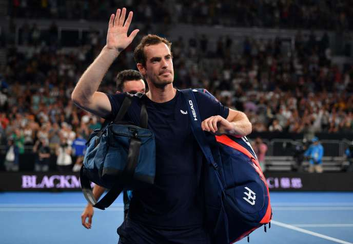 Andy Murray after losing against Roberto Bautista in the first round of the Australian Open on Monday, January 14.