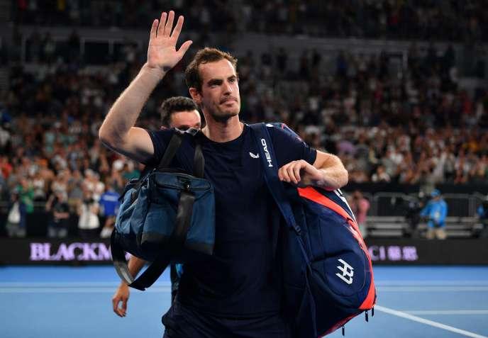 Andy Murray, luego de perder ante Roberto Bautista en la primera ronda del Abierto de Australia el lunes 14 de enero.