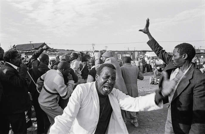 "The photographs in this portfolio are part of Santu Mofokeng's ""Dukathole"" series. They were taken in 1988 at Dukathole (Old Germiston), a township in the eastern suburbs of Johannesburg, where Métis and black families were deported."
