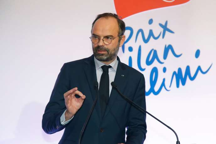 Le premier ministre Edouard Philippe lors de la remise du prix Ilan Halimi contrre l'antisémitisme, le 12 février à Paris.