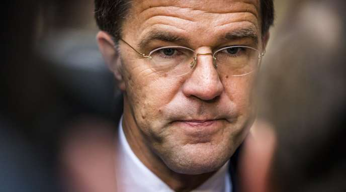 Mark Rutte in The Hague on 16 January.