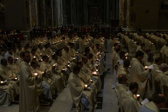 Mass at St. Peter's Basilica, Rome, 2 February.