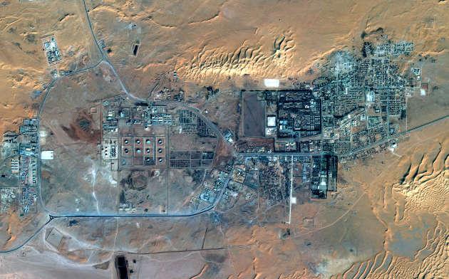 Une vue par satellite du site gazier d'In Amenas, en Algérie, le 18 janvier 2013.