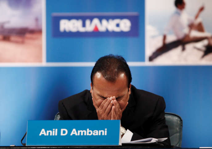 The Indian industrial Anil Ambani, in September 2012.