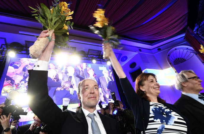 The leader of the far-right True Finnish party, Jussi Halla-aho, on April 13 in Helsinki.