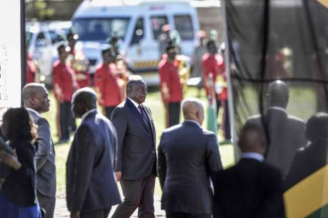 Le président sud-africain Cyril Ramaphosa à Makhanda (Afrique du Sud), le 27 avril.