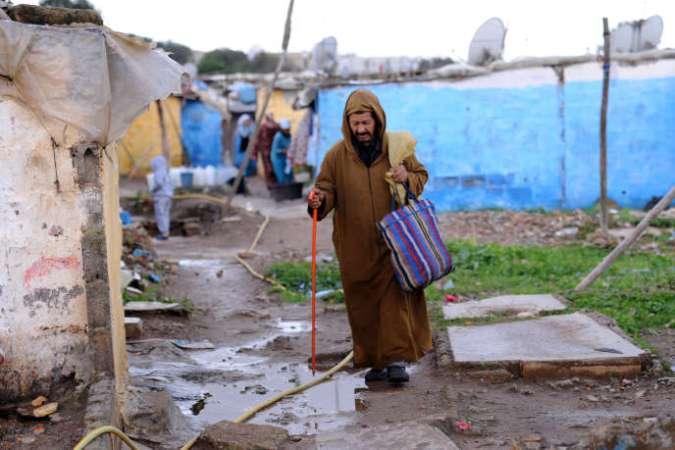 Le bidonville de Sahb El Caïd, à Salé, au Maroc, en novembre 2012.