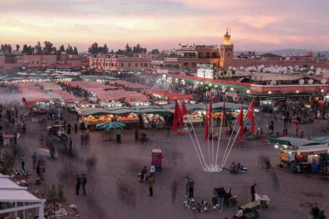 Le Maroc est le pays numéro 1 du tourisme en Afrique. Ici, la place Jemaa-el-Fna à Marrakech, en novembre 2016.