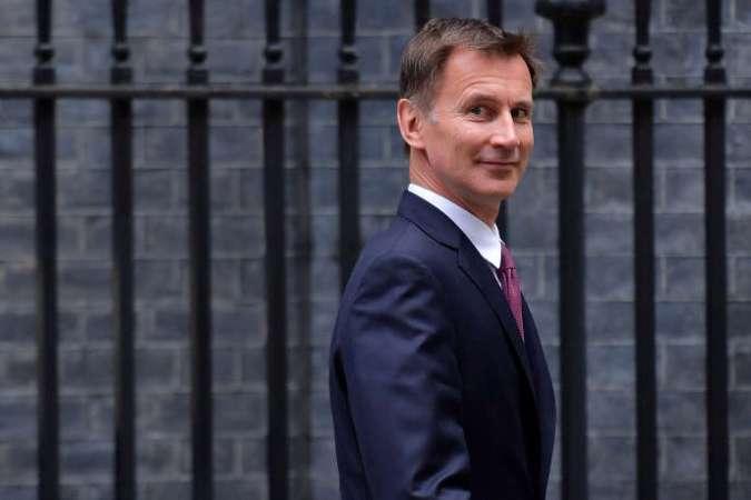Jeremy Hunt, devant Downing Street, à Londres, le 18 juin 2019.
