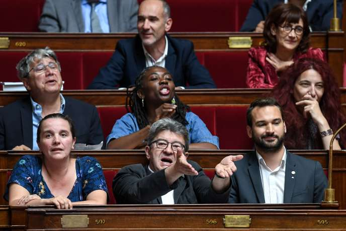 Jean-Luc Melenchon, at the National Assembly, Paris, July 2nd.