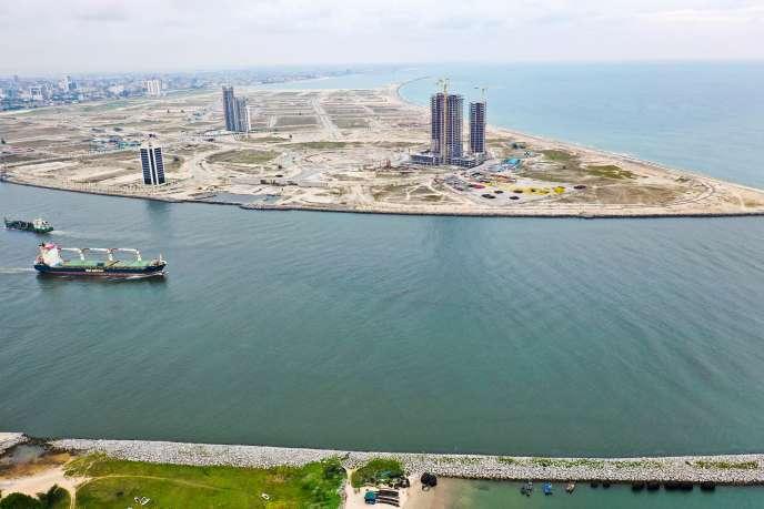 Le projet Eko Atlantic à Lagos, capitale économique du Nigeria.