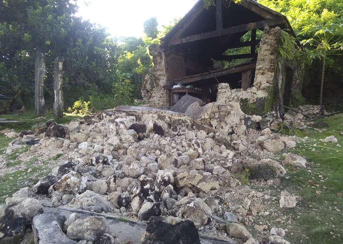 A Itbayat (Philippines), ville touchée par deux séismes le 27 juillet.