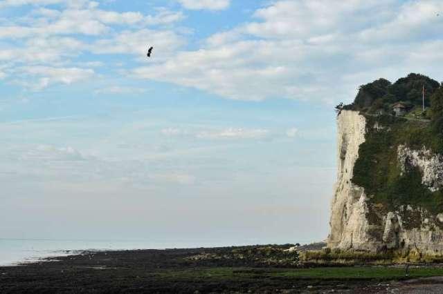 Franky Zapata le 4 août à l'approche des côtes de l'Angleterre.