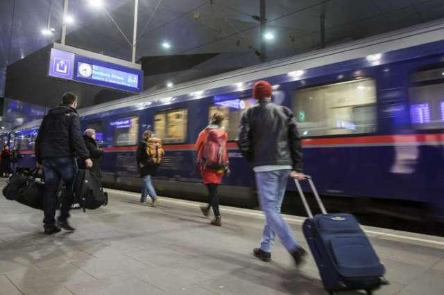Un train Nightjet de la compagnie autrichienne ÖBB, en gare de Vienne et à destinantion de Hambourg, le 27 février.
