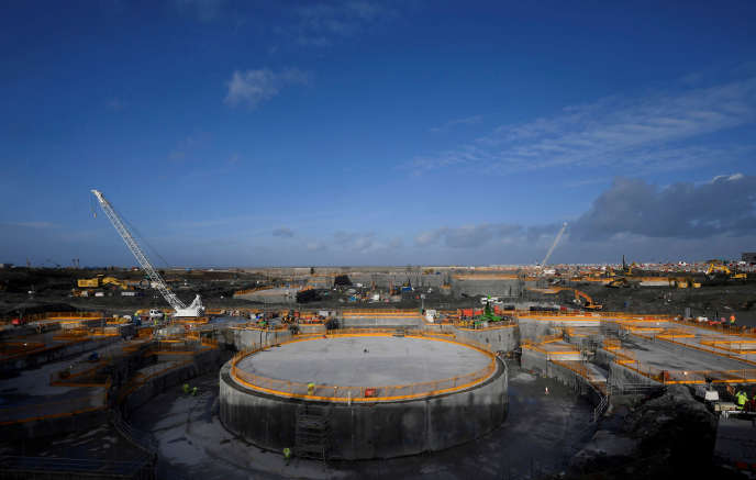 The construction site of the Hinkley Point EPR (South West England) in January 2018.