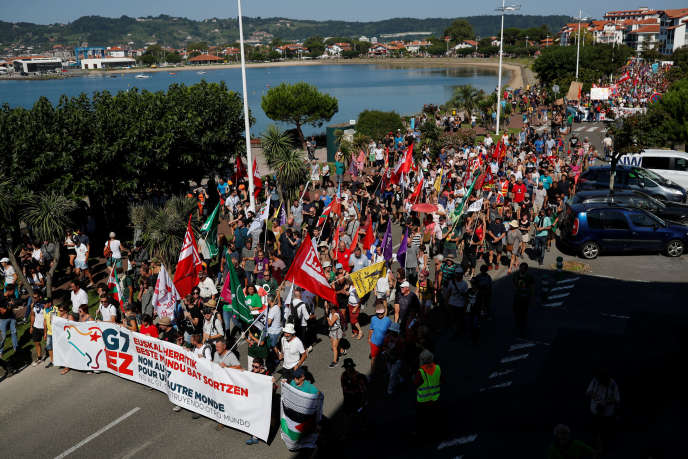 The anti-G7 march, Saturday, August 24 in Hendaye.