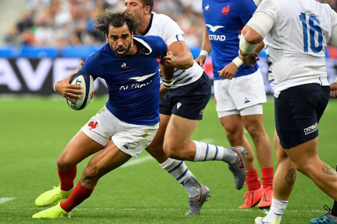 Yoann Huget at the Stade de France, in Saint-Denis, on August 30th.