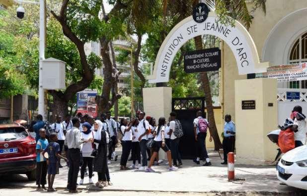 L'Institution Sainte-Jeanne-d'Arc (ISJA) de Dakar lors de la rentrée scolaire, le 3 septembre 2019.