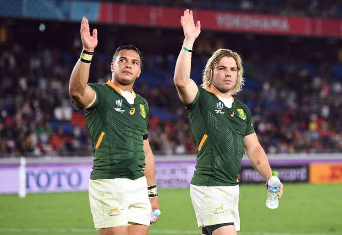 A l'issue du match entre l'Afrique du Sud et la Nouvelle-Zélande le 21 septembre 2019.