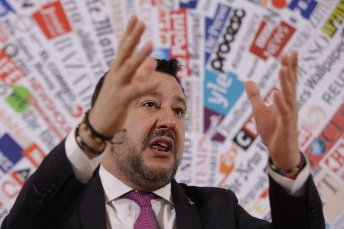 Matteo Salvini, leader della Lega (estrema destra), a Roma, il 13 febbraio.