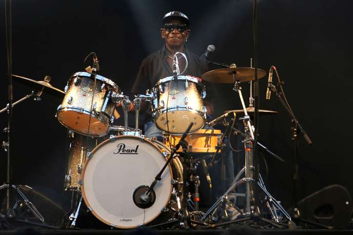Tony Allen at the Palais-Royal in Paris, June 21, 2017.