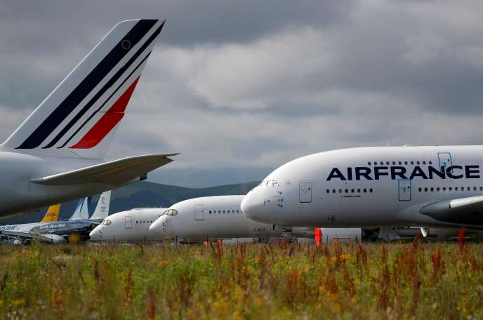 An Air France Airbus A380 at Tarbes-Lourdes-Pyrénées airport, June 19.