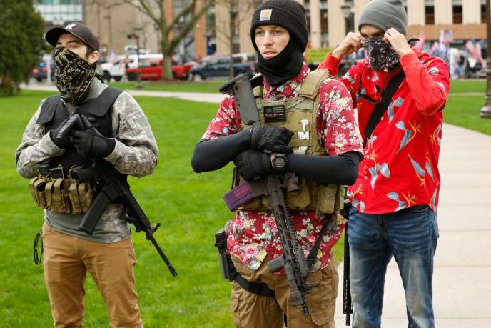 On April 30, 2020, armed activists demonstrated outside the Michigan Parliament building.