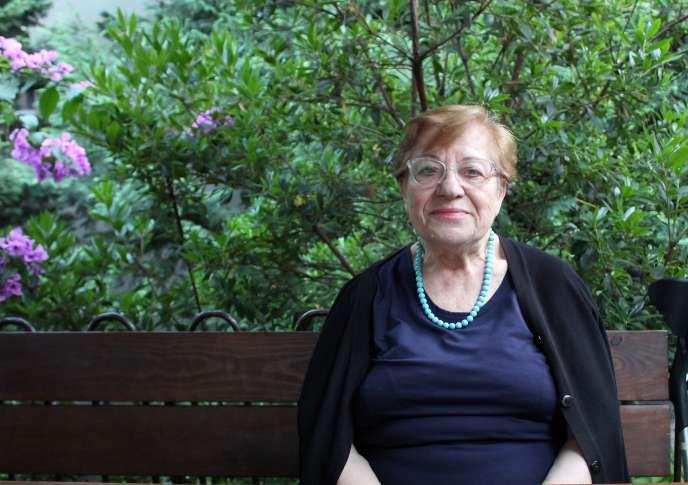 Vithleem Magoula, 81 ans, l'une des dernières Grecques orthodoxes d'Istanbul, le 22 juillet 2020.