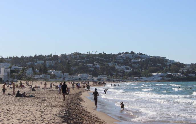 La plage de La Marsa, près de Tunis, en mai 2020.