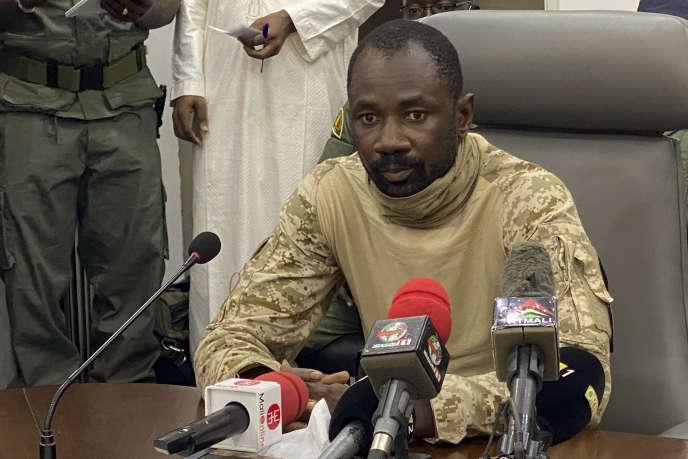 Le colonel Assimi Goita, président du Comité national pour le salut du peuple (CNSP), à Bamako, le 19 août 2020.