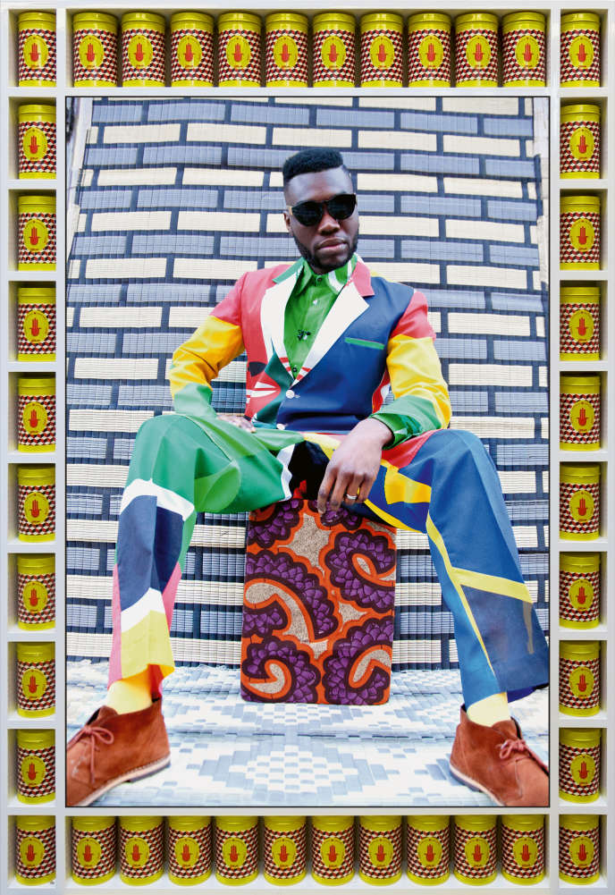 «Garçon africain assis» («African Boy Sittin'»), de Hassan Hajjaj, 2013.