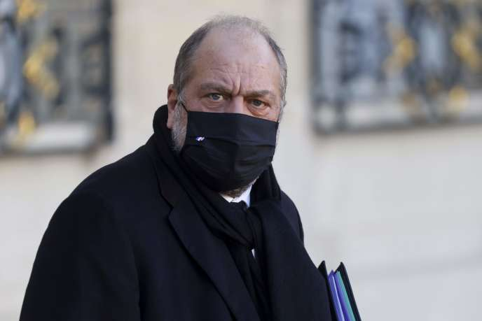 Justice Minister Eric Dupond-Moretti leaves the Elysee Palace on November 18 in Paris.