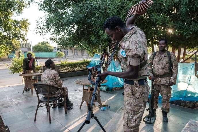 Un membre des forces spéciales d'Amhara, le 22 novembre à Humera.
