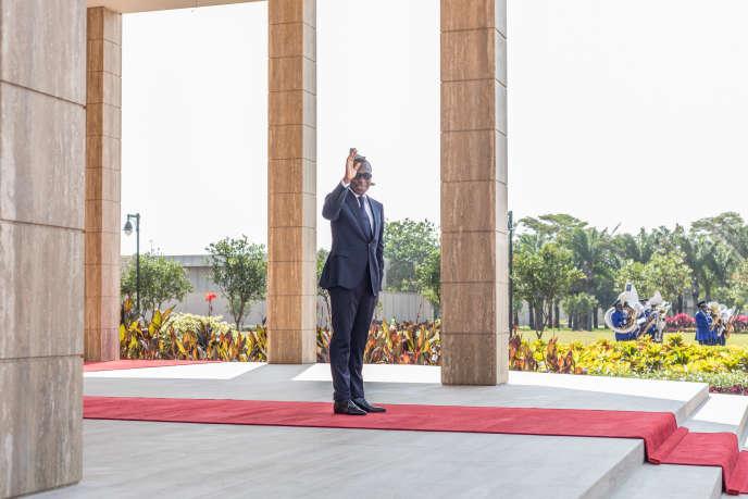 Le président béninois Patrice Talon, au palais de la Marina, à Cotonou, pendant les cérémonie de célébration de l'indépendance du pays, le 1er août 2020.