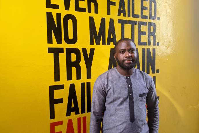 Ayéfèmi Oro, directeur des relations publiques d'Etrilabs, à Cotonou, en novembre 2020.