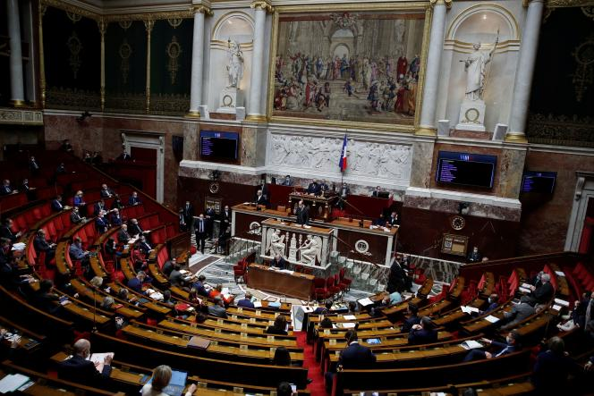 The hemicycle of the National Assembly, December 16, 2020.