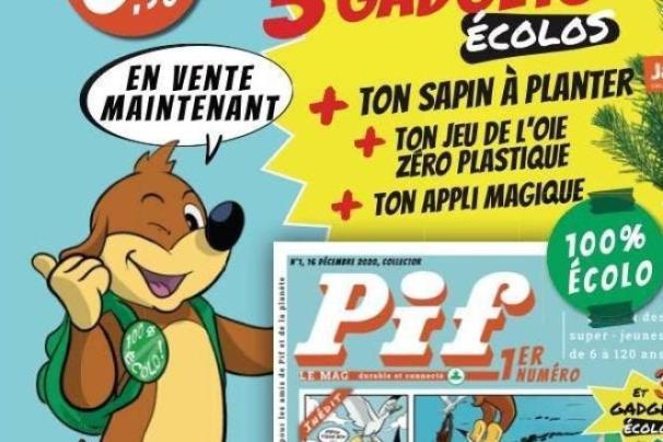 Promotion pour la nouvelle version du magazine Pif.