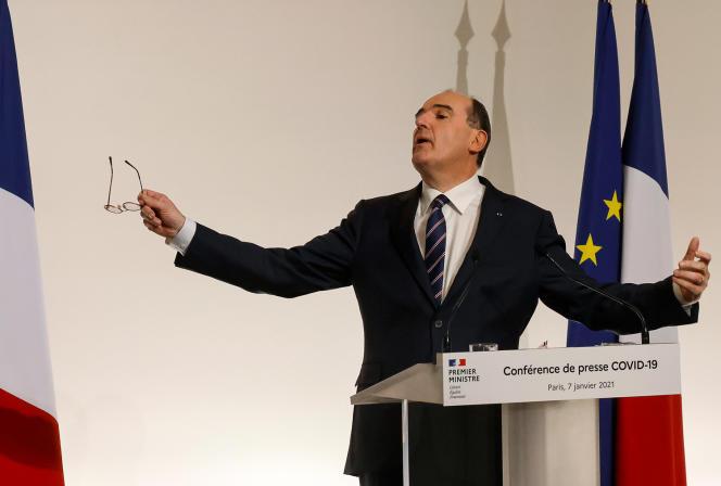Prime Minister Jean Castex, in Paris, January 7, 2021.