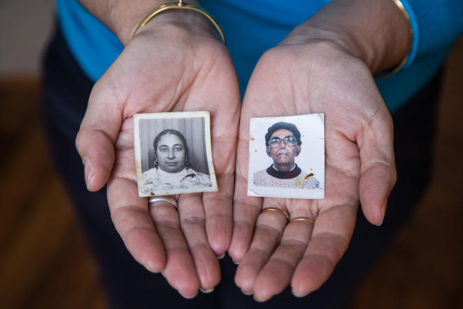 Portraits d'identités des parents de Dalila Kerchouche.