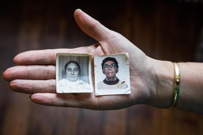 Portraits d'identités des parents de Dalila Kerchouche. Fille de harkis