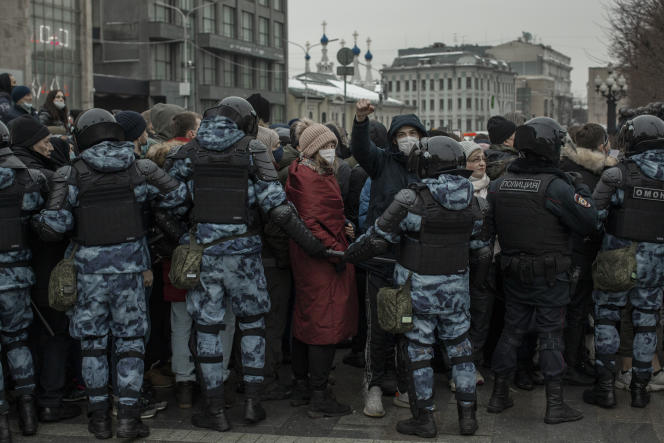 A Moscou, la manifestation du 23janvier restera comme le rassemblement non autorisé le plus important de ces vingt dernières années.
