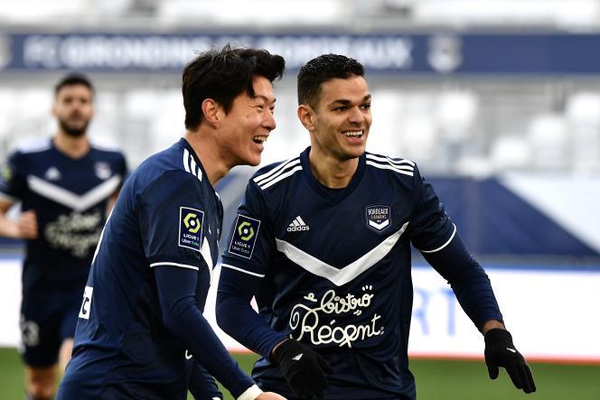 Hwang Ui-jo a marqué les deux buts de la victoire de Bordeaux contre Angers, dimanche 24 janvier.