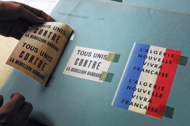 Aux archives du fort de Vincennes en octobre 2001, où sont rassemblées les archives sur la guerre d'Algérie.