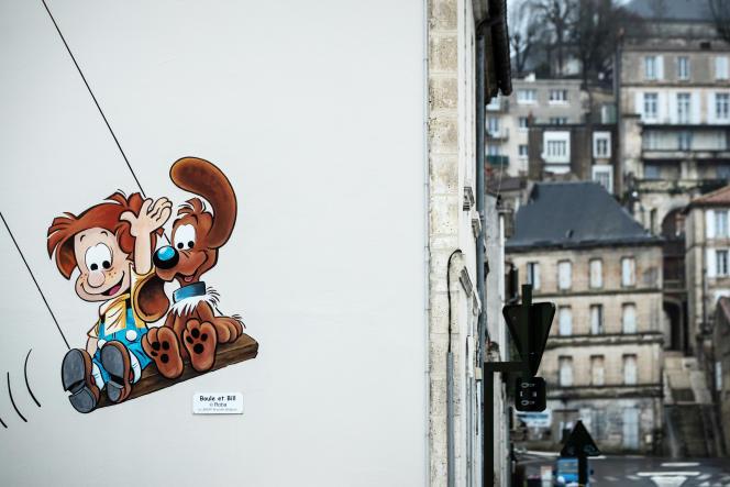 Lors du 47e festival de la bande dessinée d'Angoulême (Charente), le 2 février 2020.