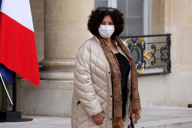 Frédérique Vidal, Minister of Higher Education and Research, at the Elysee Palace, January 20, 2021.