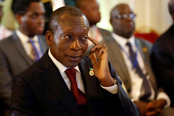 Beninese President Patrice Talon is a candidate for re-election.  Here in Abidjan, in April 2017.